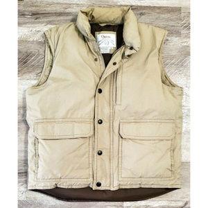 Orvis Mens Goose Down Puffer Vest Tan Size Medium